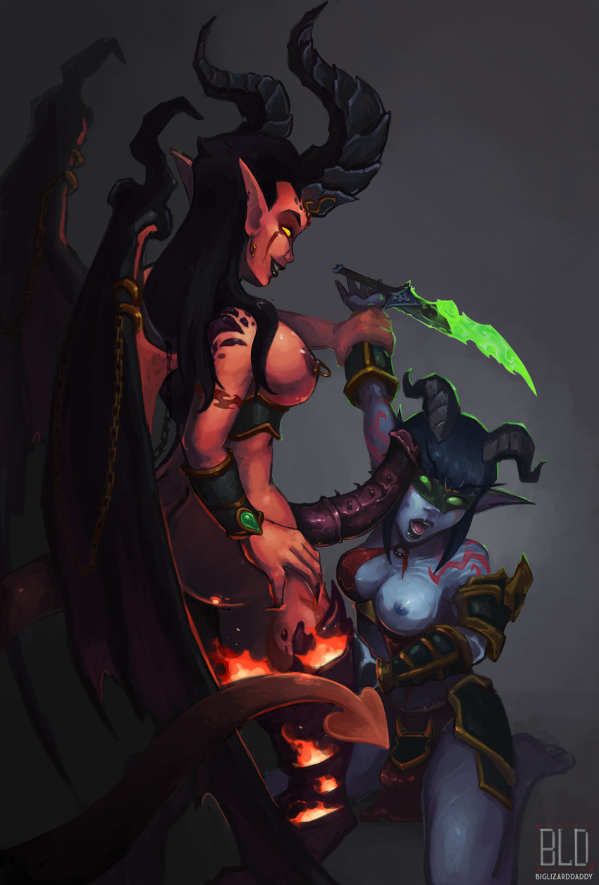 night elf female demon hunter Buster lady and the tramp